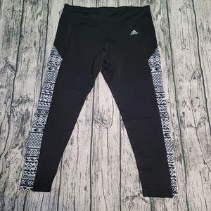 adidas climawarm athletic legging sz xl geometric